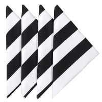 Napkin - Black and White Striped
