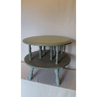 Table - Sage Spindle Leg Two Tier