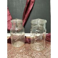 Mason Jar - Glass Top Quart