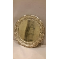 Tray - Silver Small Floral Edge Plate