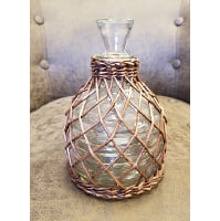 Decanter - Wicker wrapped beehive