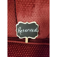 Chalkboard - Mini Reserved Clothespin