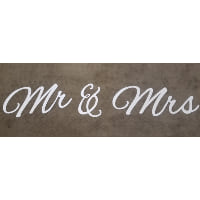 Sign - Giant Metal Mr & Mrs White