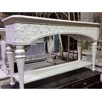 Sofa Table - Rattan White