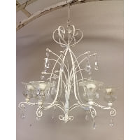 Chandelier - Six Candle Ivory