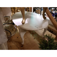Coffee Table - White Oval
