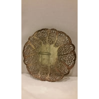 Tray - Silver Lacy Pot Holder