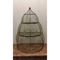 Birdcage -  Flat Back 3 Tier Shelf Iron