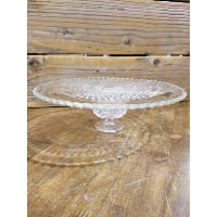 Pedestal - Cut Glass Dot Edge Crystal Lace Foot
