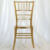 Chair Tie - Ivory sheer