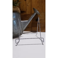 Easel - Large Silver Twist Tabletop