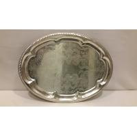 Tray - Silver Oval Petal Edge