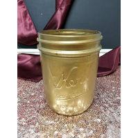 Mason Jar - Gold Painted Pint
