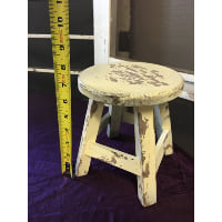 Stool - French Ivory wood stool