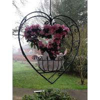 Basket - Large Metal Heart