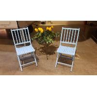 Chair - Blue Wood Folding