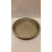 Tray - Silver Round Slit Edge Small