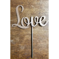 Sign - Love Gold Cake Topper