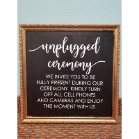 Sign - Unplugged Ceremony Gold Frame