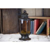 Lantern - Amber Glass Round