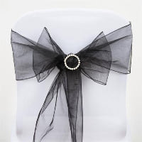 Chair Tie  - Black sheer