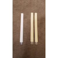 Battery Candle - WAX Taper Beige