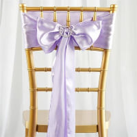 Chair Tie  - Lavender satin