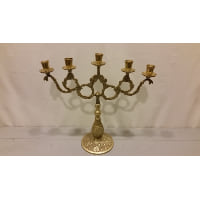 Candelabra - Five Candle Brass Wreath