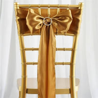 Chair Tie - Gold satin