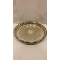 Tray - Silver Round Slit Edge Medium