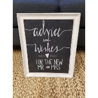Chalkboard - Advice and Wishes