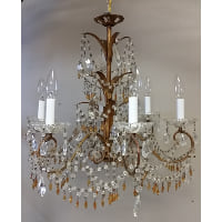 Chandelier - Gold Palm Leaf