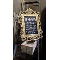 Sign - Open Bar gold detail frame
