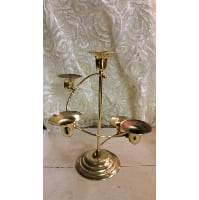 Candelabra - Five Candle Gold Swirl