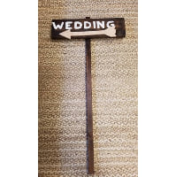 Sign - Wedding Directional