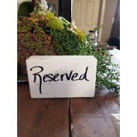 Reserved - Block Black Lettering
