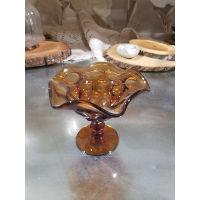 Bowl - Amber Wavy Candy Dish