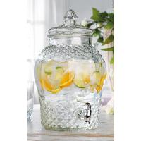 Beverage Dispenser - Diamond design glass 2.5