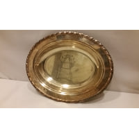 Tray - Silver Rope Edge Oval Bowl