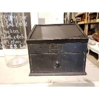 Box - Black Lift Lid w/Drawer