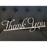 Sign - Thank you Metal Script