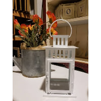 Lantern - White Metal Square