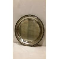 Tray - Silver Round Medium Grey Edge