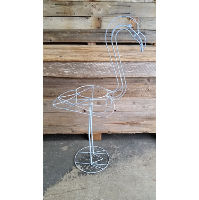 Flamingo - Blue Metal Plant Stand
