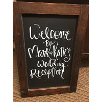 Chalkboard - Standing Dark Stained Wood