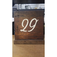 Table Number - Dark stained square