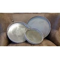 Tray - Grey Vintage Mirror Medium