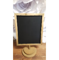 Chalkboard - Natural wood tabletop