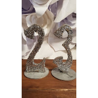 Table Number - Glitter silver