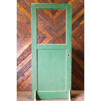 Door - Green Half Top Glass